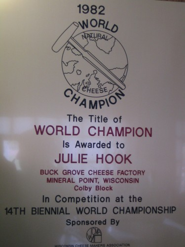 world champion cheese